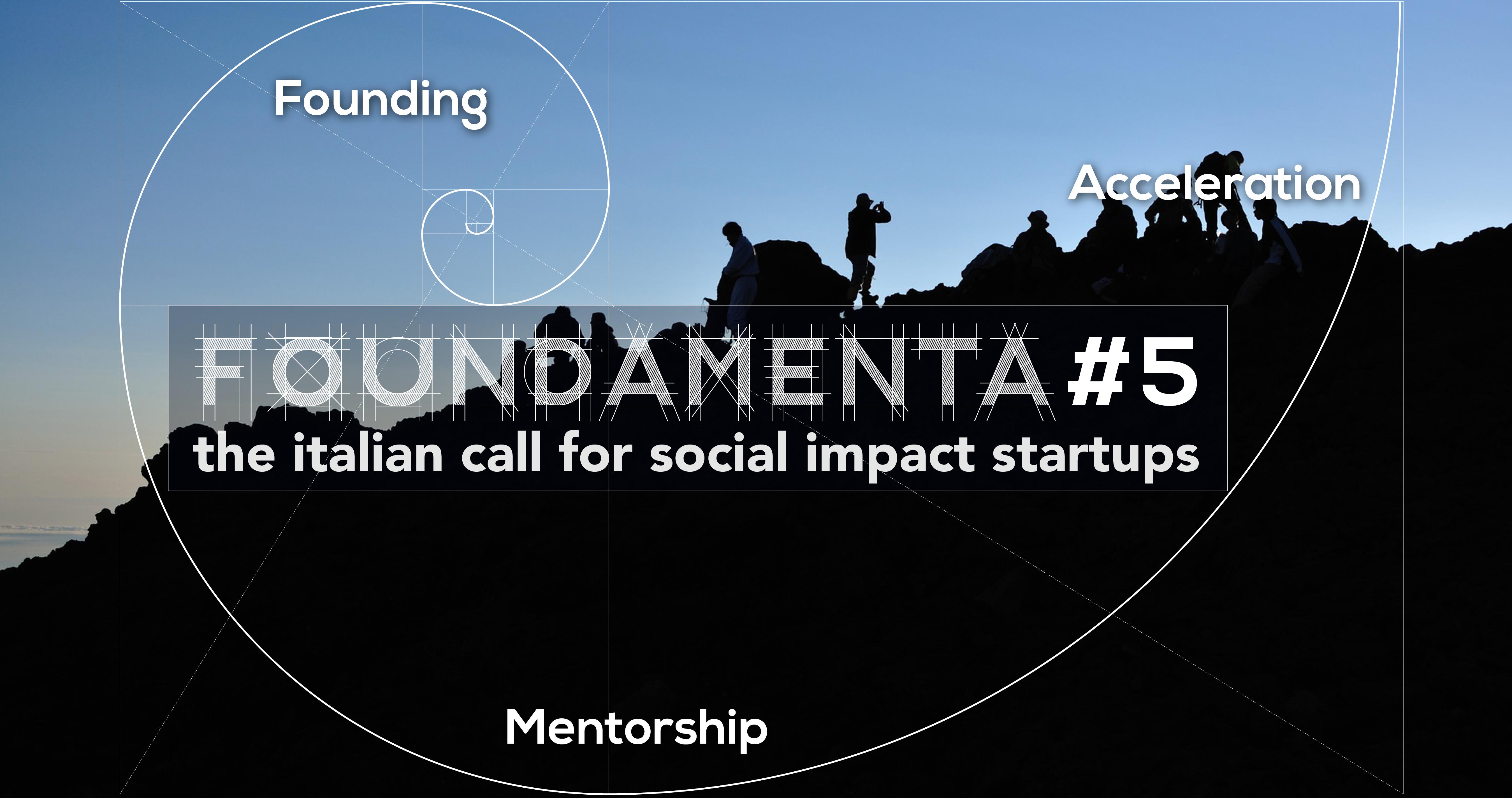 FOUNDAMENTA#5: Call per startup a impatto sociale